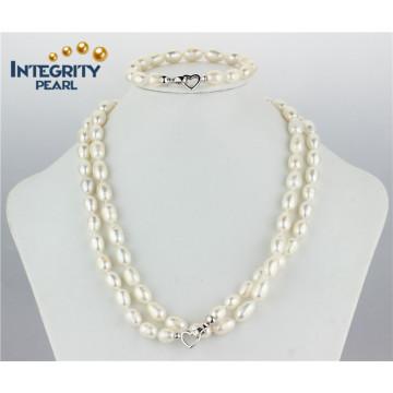 Heißer Verkaufs-Perlen-Satz 9mm AA- Süßwasserreis-Perlen-Satz