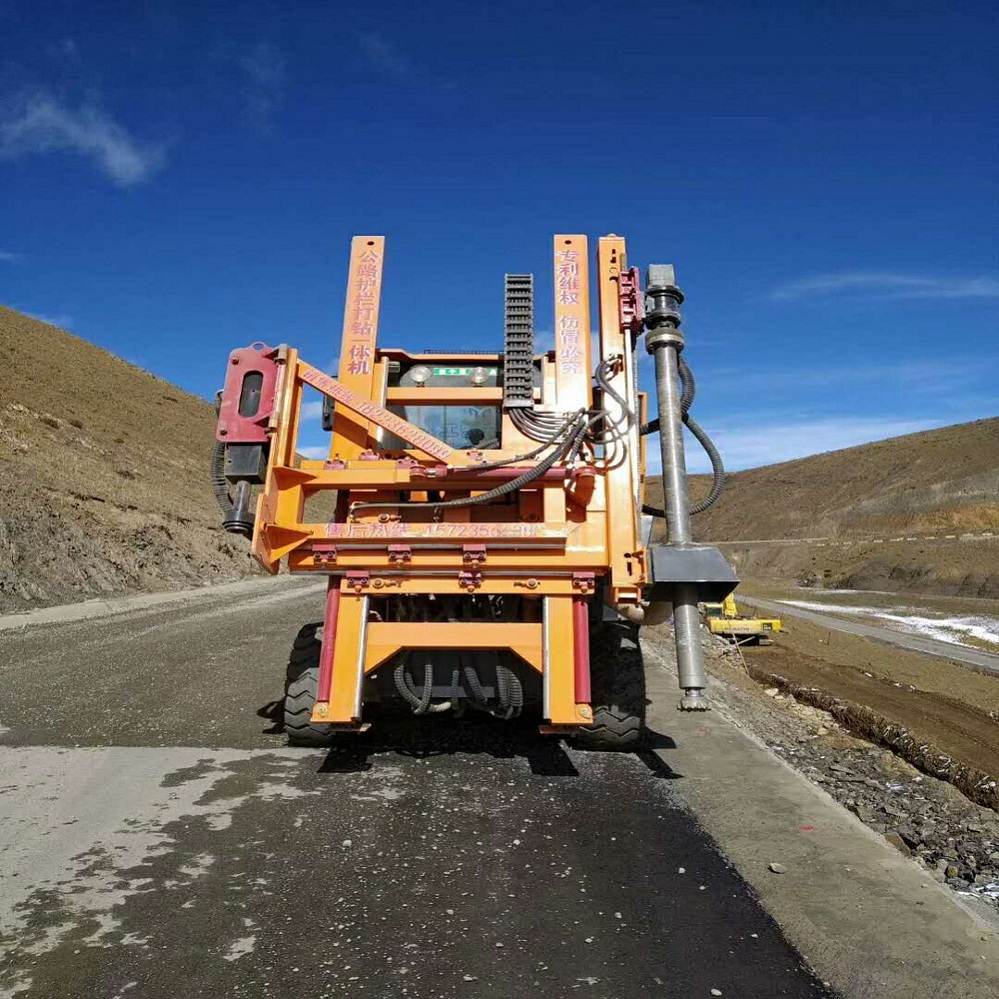 Car Type Guardrail piling machine