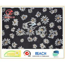 Твилл поли тафта цветок печати подкладки / одежды ткани (ZCGP084)