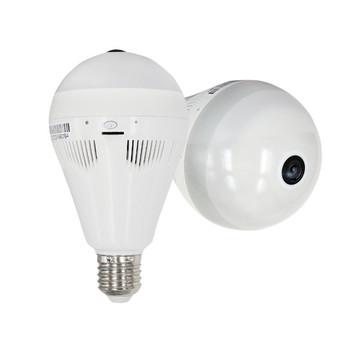 Light Bulb Size Wifi 360 Fish Eye Camera