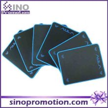 Base de caoutchouc antidérapante mini taille texturée large noir Mousepad