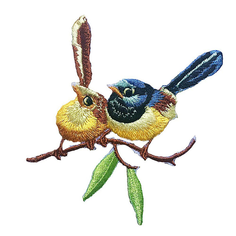 Cute Embroidery Bird Patch