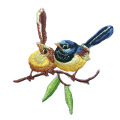 Cute Embroidery Bird Patches Motif Applique