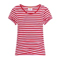 Red white striped t shirt for sales