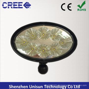 "12V 6 ""40W Oval CREE LED Luz de trabajo para John Deere"