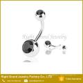 G23 titanium appuyez sur ajustement cristal métier nombril nombril anneau