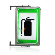 Tunnel emergency electro-optic indicator led traffic sign