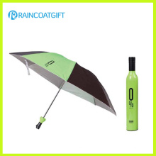 "21""*8k Rain Promotional Folding Wine Bottle Umbrella"