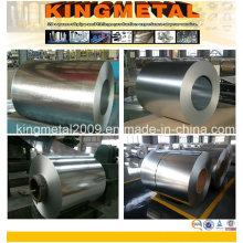 Bobina de acero galvanizado cinc, hoja de acero