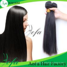 100% unverarbeitete Brasilianische Menschenhaar Remy Reine Haareinschlagfaden