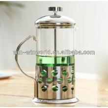 Café de vidro de borosilicato inteligente e fabricante de chá com alça