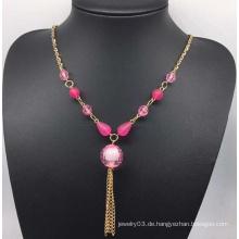 Bunte Perlen Perlen Pullover Halskette (XJW13759)