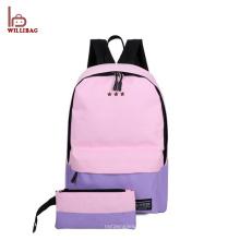 2 PCS set Enfants école sac à dos toile à la mode sac d'école