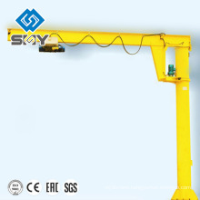 New type fixed slewing jib crane with wirerope/chain hoist for sale