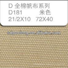 Tela 100% de lona de algodón 21/2 * 10 72 * 40 usada para los zapatos
