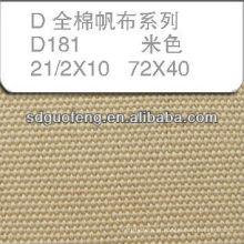Tecido de lona 100% algodão 21/2 * 10 72 * 40 usado para sapatos