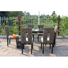 Café deslumbrante e conjunto de jantar tecido de material natural-jacinto de água para uso interno