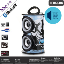 Round led light bluetooth portable stereo digital speaker
