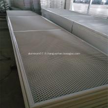 Maille en métal déployé en aluminium comme décoration de bâtiment