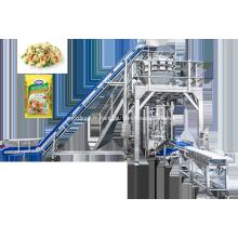 Machine d'emballage automatique de carottes et de pois surgelés