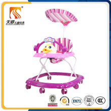 New PP Plastic Rolling Baby Walker with 7 Swivel Wheels