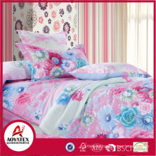 Microfiber bed set with bedsheet and pillowcase, New pattern printed bedding set,Microfiber bedding set