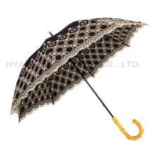 Вышитый свадебный зонт женский прямой зонт