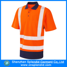 Bulk Wholesale Work Clothes Reflective Uniform Polo T Shirt
