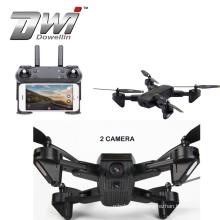 DWI Dowellin Double Camera MINI Foldable Selfie drone With Wifi FPV 720P Camera Gesture Shooting