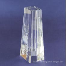 Vase en verre simple clair de cristal pour la décoration à la maison