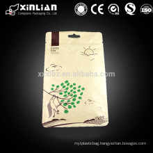 square bottom design brown paper bags for food