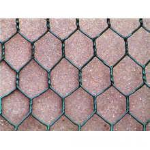 Rede de arame sextavada revestida do PVC / fio de aço inoxidável