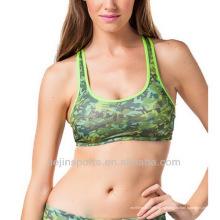 Пользовательские сексуальная камуфляж спортивный бюстгальтер для женщин