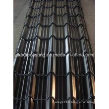 Feuille de toiture en acier ondulée galvanisée par couleur noire
