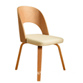 Household Leather Dining Wood Soft Chair