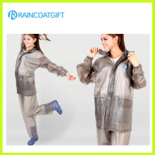 Ropa impermeable impermeable del PVC de las mujeres (RVC-081)