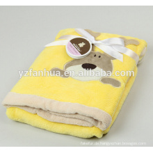 Embroiered wenig Tiermuster Polyester-Fleece Baby Blankets