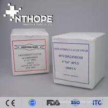 Hisopos de gasa de algodón absorbentes médicos no estériles