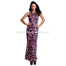 Vestido maxi largo del vestido de una sola pieza del diseñador de las mujeres del tamaño de la manga del palo al por mayor modificado para requisitos particulares
