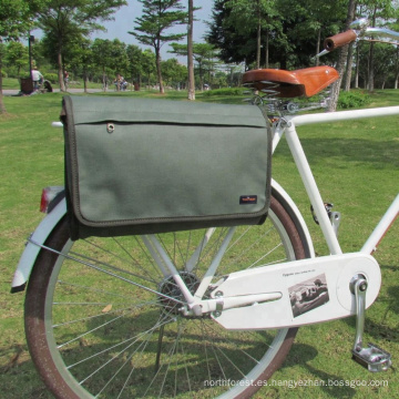 Alibaba China Guang Zhou Al por mayor exterior marco lona solo bicicleta alforjas bolsas