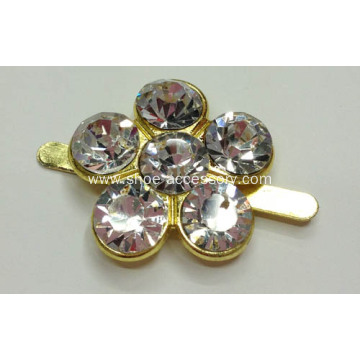 2.2cm Smart Rhinestone Alloy Buckle for Bikini, Shoes, Handbags