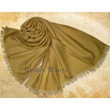 Bufanda de lana de la cara de la tela cruzada del color sólido