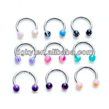 Fashion nose rings jewelry designs piercing CBR rings jewelry