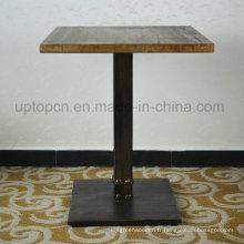 Table de restaurant en bois massif en caoutchouc massif (SP-RT466)