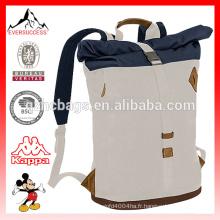 Rolltop Laptop Backpack Roll Top avec sac à fond rembourré