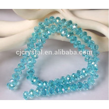 Atacado 8MM Crystal facetada Rondelle Beads