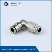 Air-Fluid Brass Nickel-Plated  Elbow Push in Fitting.