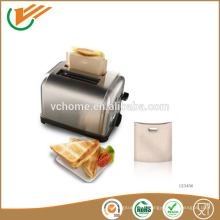 2015 china supplier -70~ 260 centigrade PTFE Reusable Toastie Toaster Bags fit for oven