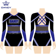 Custom cheerleading uniforms 2 piece set