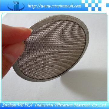 Filtro de malla de disco con múltiples capas